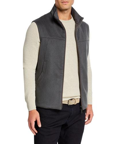 Men's Midway Zip-Front Cashmere Vest