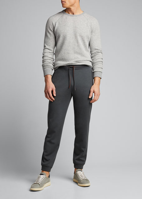 Image 1 of 1: Men's Rib-Knit Jogger Pants