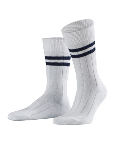 Men's Summer Striped Crew Socks