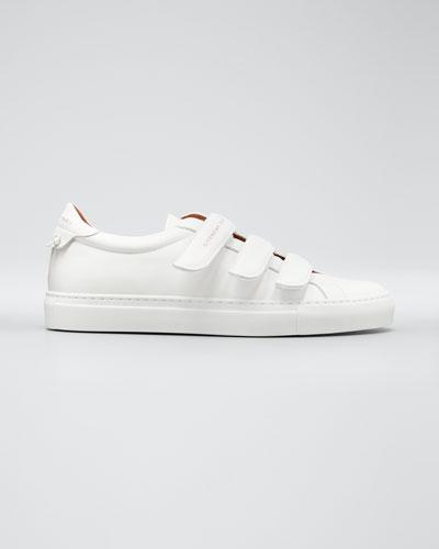 Men's Urban Three-Strap Tonal Leather Sneakers