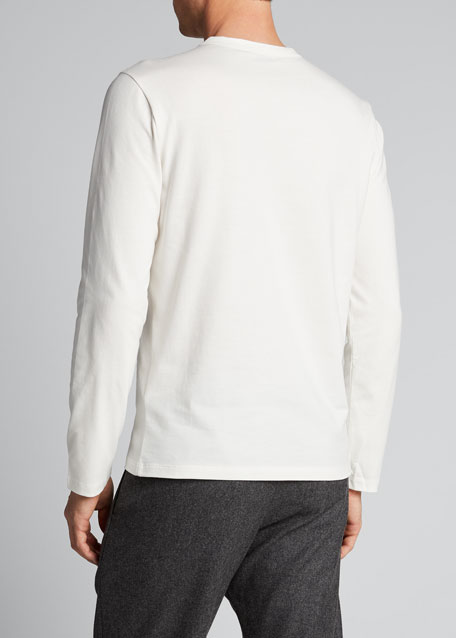 Men's Logo-Detail Long-Sleeve T-Shirt