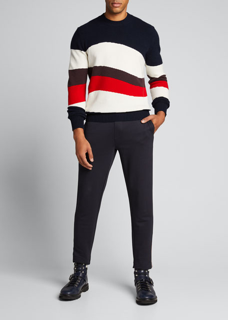 Men's Striped Crewneck Sweater