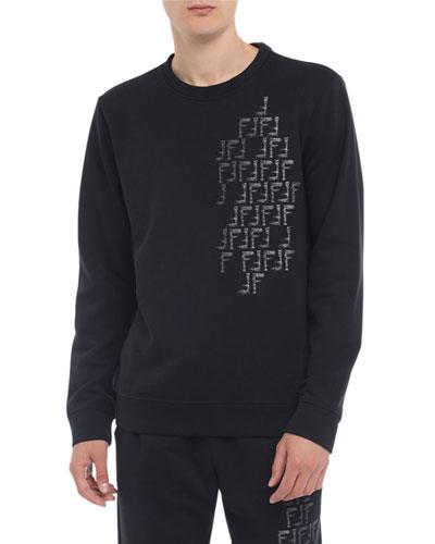 Men's Faded-FF Cotton-Blend Sweatshirt