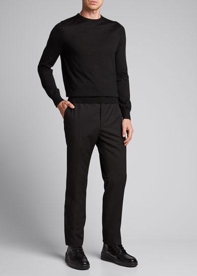 Men's Multi-Piping Wool Trouser Pants