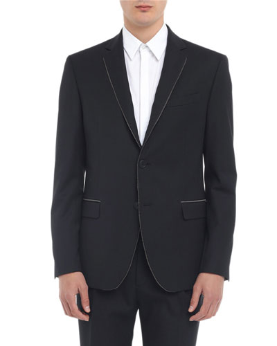 Men's Multi-Piping Two-Button Jacket