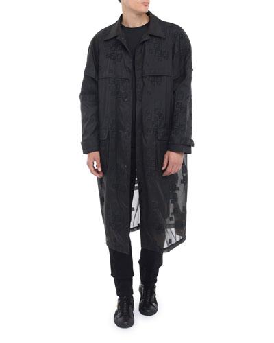 Men's Faded-FF Sheer Parka Coat