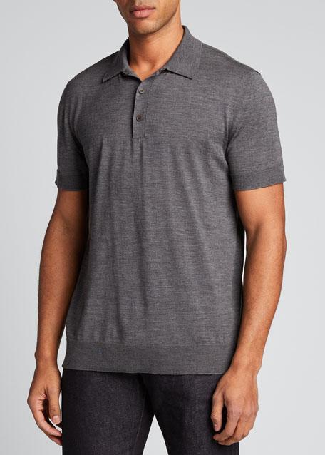 Men's Wool Polo Sweater