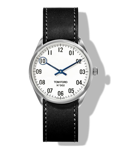 N.002 38mm Round Leather Watch