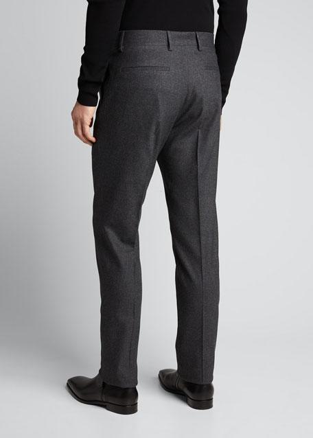 Men's Classic Cashmere-Blend Straight-Leg Pants