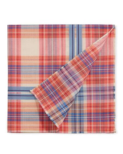 Men's Baltic Scottish Check Pocket Square