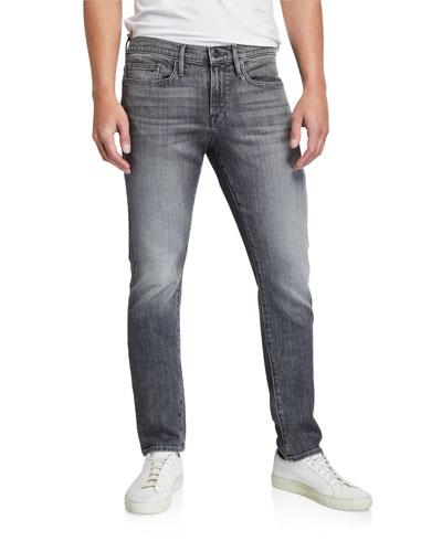 Men's L'Homme Slim-Fit Gray-Wash Jeans