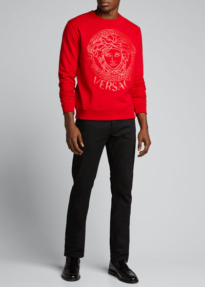 Men's Tonal Medusa Graphic Sweatshirt