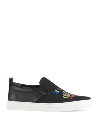 Men's Dublin Worldwide Canvas/Leather Slip-On Sneakers