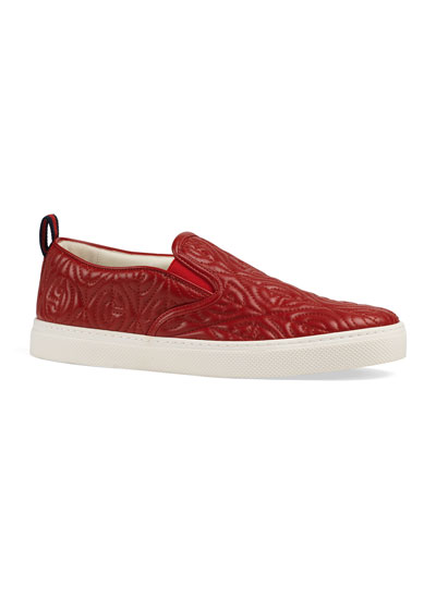 Men's Dublin Rhombus Stitched-GG Slip-On Sneakers