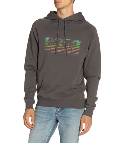 Men's Rainbow Palms Logo Hoodie Sweatshirt