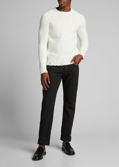 Men's Destroyed Cotton Sweater