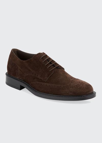 Men's Brogue Suede Derby Shoes