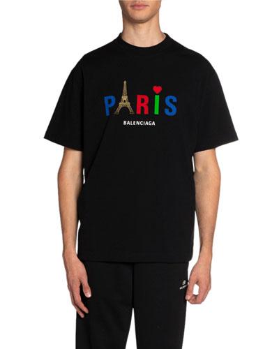 Men's Paris Love Vintage Jersey T-Shirt