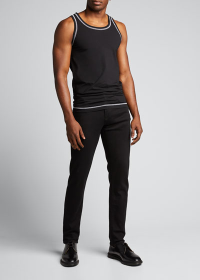 Men's Jersey Tank Top w/ Contrast Stitching