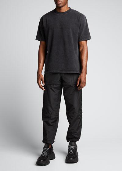 Men's Washed Logo Crewneck T-Shirt
