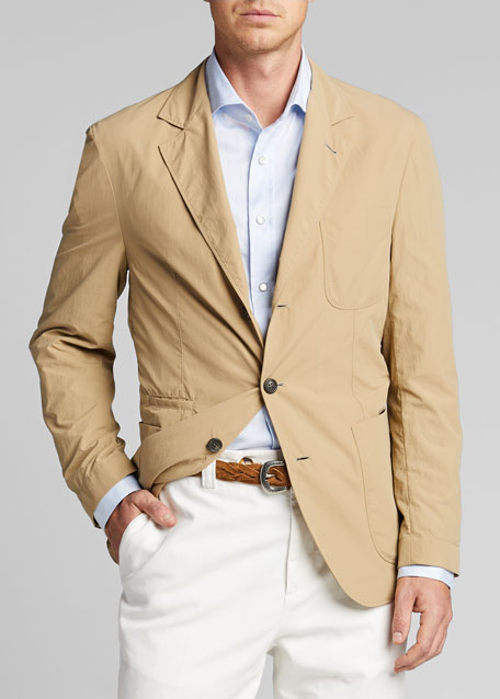 Men's Technical Weave Three-Button Jacket