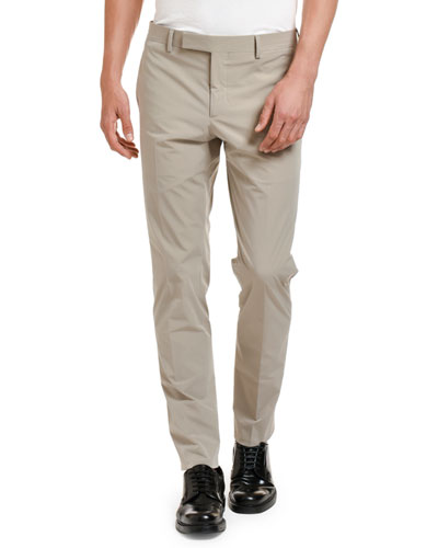 Men's Techno Stretch-Poplin Straight-Leg Pants