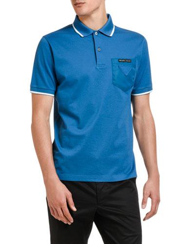 Men's Contrast-Tip Pocket Polo Shirt
