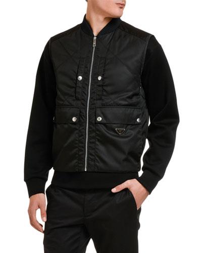 Men's Gabardine Pocket Bomber Jacket