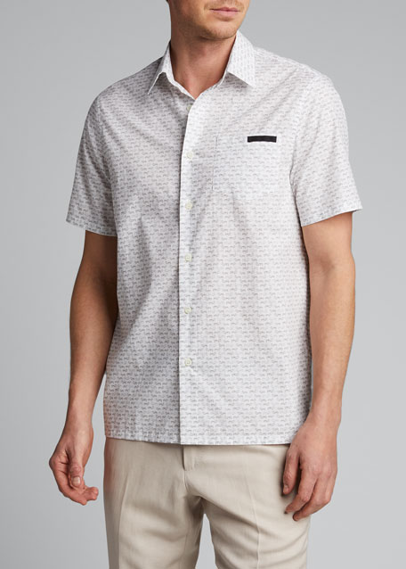 Men's Journey Graphic Poplin Short-Sleeve Shirt