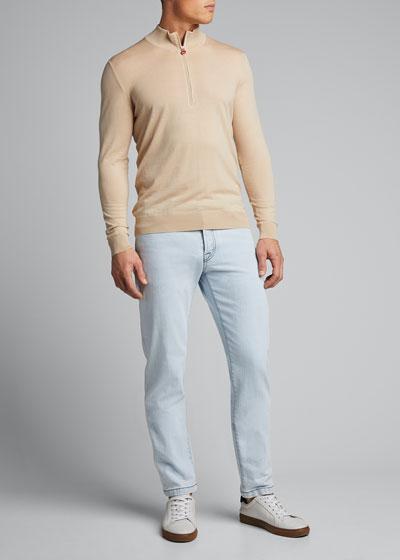 Men's Quarter-Zip Pullover Sweater