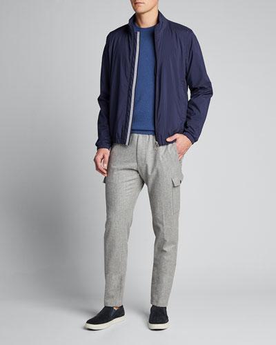 Men's Solid Wind-Resistant Jacket