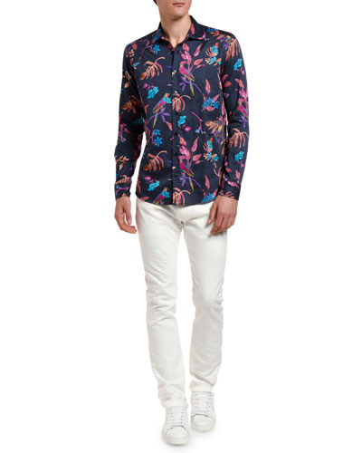 Men's Tropical Hibiscus Sport Shirt