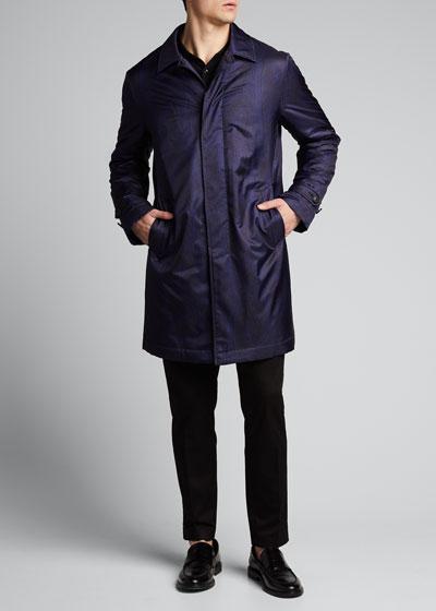 Men's Paisley Raincoat