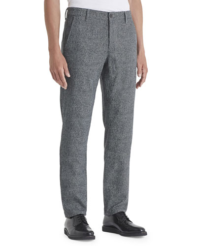Men's Marshall Herringbone Straight-Leg Pants