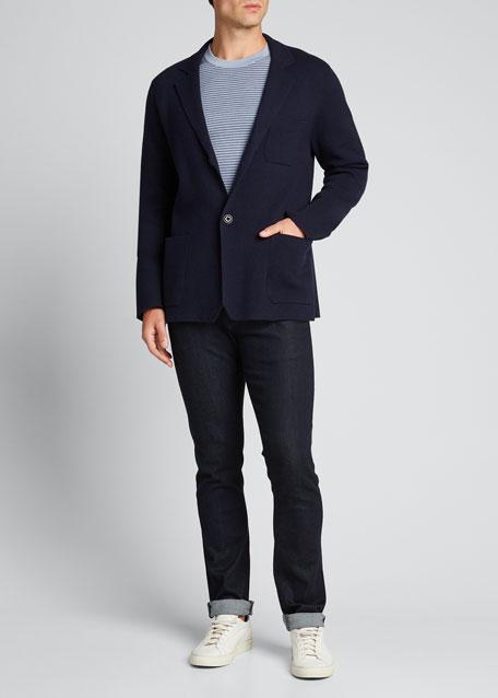 Men's Solid Patch-Pocket Wool-Blend Jacket