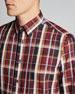 Men's Madras Plaid Cotton-Linen Sport Shirt