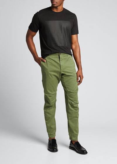 Men's Articulated Stretch-Cotton Chino Pants