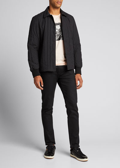 Men's Davis Snap-Front Quilted Jacket