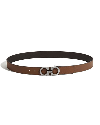 Men's Reversible Leather Gancini Belt