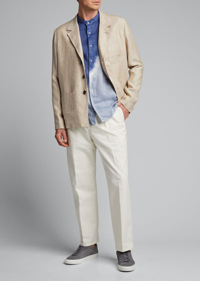 x B Shop Men's Federal Pleated Chino Pants