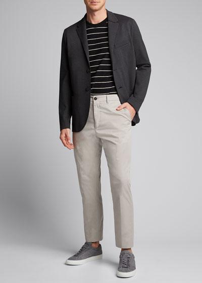 x B Shop Men's Atelier Flat-Front Cropped Pants