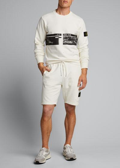 Men's Fleece Sweatshorts with Logo Patch