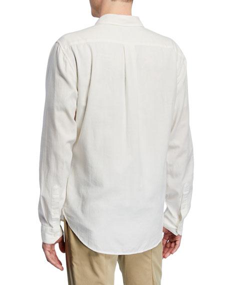 Men's Garment Dye Long-Sleeve Cotton Sport Shirt