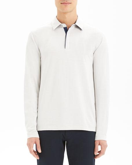 Men's Sartorial Incisive Long-Sleeve Polo Shirt