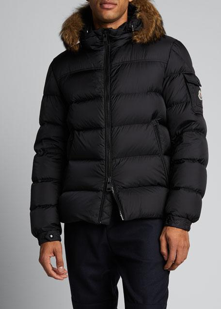 Men's Marque Fur-Trim Puffer Jacket