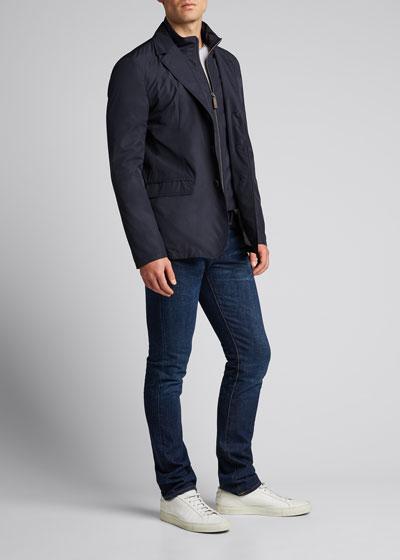 Men's Techno-Weave Three-Button Jacket