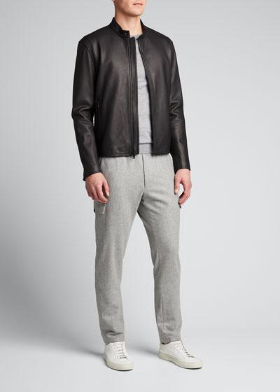 Men's Classic Leather Jacket