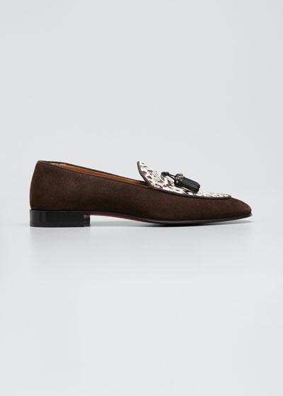 Men's King Nile Raffia/Suede Tassel Loafers