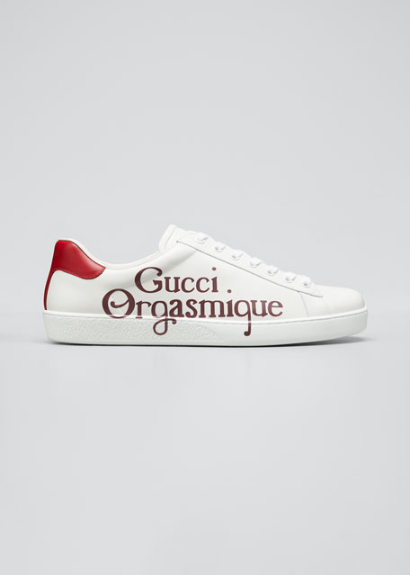 Image 1 of 1: Men's Ace Sneakers with Gucci Orgasmique