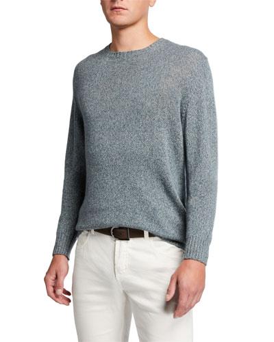 Men's Light Baby Cashmere Crewneck Sweater
